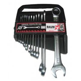 Набор ключей рожково-накидных в пластиковом держателе 12 пр. (6-22 мм). Baum 30-12MP