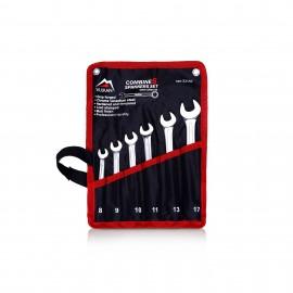 Набор ключей комбинированных 8-17 мм 6 ед. чехол. Vulkan 23157