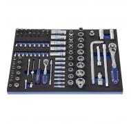 """Набор инструмента 1/4""""+1/2"""", 96 предметов в ложементе для тележки. Andrmax"""