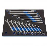 Набор ключей с храповым механизмом, 16 единиц в ложементе