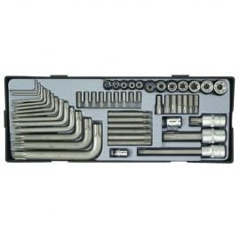 Набор инструмента Torx 52 пр. (FORCE T3521) в ложементе