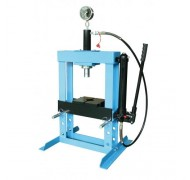 Пресс гидравлический 10 т низкий, с насосом и гидропоршнем с манометром (ход 175 мм). UNITRAUM UNY10003